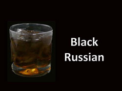 black-russian cocktail drink